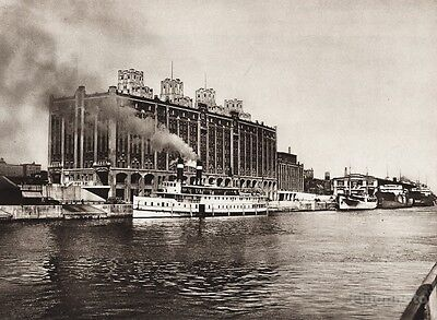 1925 CANADA Cold Storage Plant Montreal Quebec Waterfront Architecture Nautical