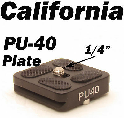 PU-40 Quick Release Plate For J1 N1 Tripod ball head Arca Swiss