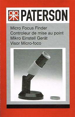 Paterson Micro Focus Finder   : PTP 643 :  Darkroom Photographic Enlarging