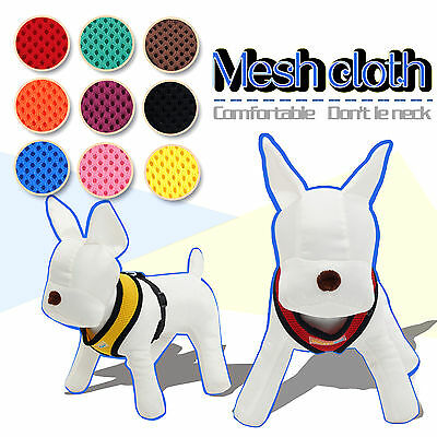 Pet Dog Harness Adjustable Soft Mesh Fabric Padded Vest Harness Puppy Cat