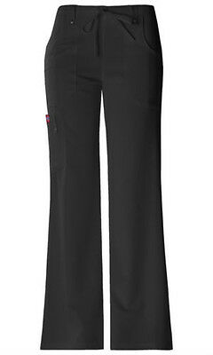 Scrubs Dickies Xtreme Stretch Drawstring Flare Pant 82011 Black   FREE SHIPPING