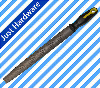 "12"" 300mm Half Round Rasp File Soft Grip for Wood Working"