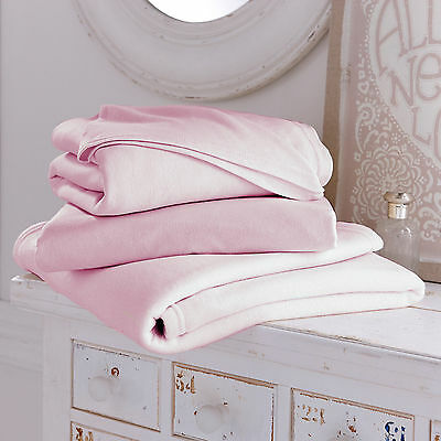 New Clair De Lune Pink Girls Bedding Bale 3 Piece Cot Bed Sheets & Blanket Set
