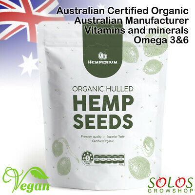 HEMP SEEDS HULLED AUSTRALIAN CERTIFIED ORGANIC 250g FAST&FREE DELIVERY