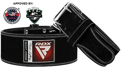 RDX Power Weight Lifting Leather Gym Belt Back Support Strap Training Fitness AU