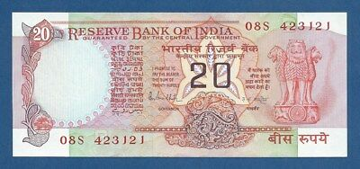 INDIA -- 20 RUPEES ND -- UNC -- LETTER B -- PICK 82h .