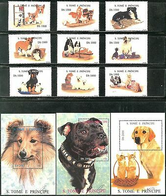 Sao Tome & Principe 1995 Dogs & Cats 18 + 6 S/S MNH** 2 scans !