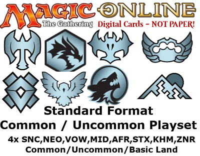 MTGO Magic Online Standard Common/Uncommon/Land Playset GRN M19 DAR RIX XLN