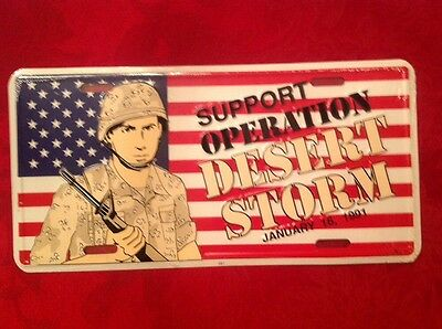 """Operation Desert Storm License Plate """"12"""" X 6"""" Car Tag"""
