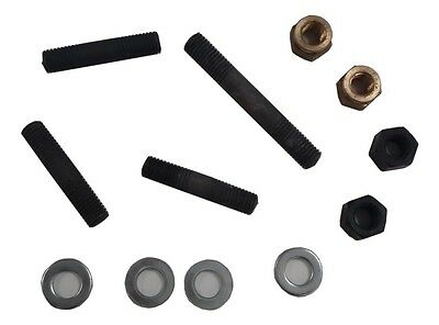 ukscooters LAMBRETTA EXHAUST CARB INLET MANIFOLD STUD KIT BRASS NUTS SET OF 4 .