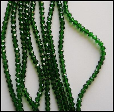 6mm Round A-Grade Crystal Beads faceted GREEN DARK EMERALD 100 Jewellery