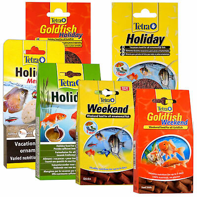 Tetra Holiday Food Block Weekend Vacation Sticks Fish Goldfish Tropical Pond