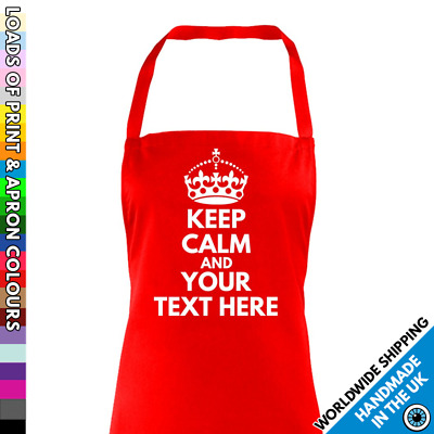 Keep Calm Apron - Custom Baking - Cook Chef - Lab School Science - Personalised