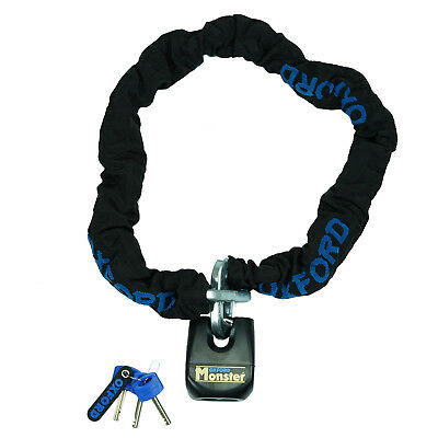Oxford Monster Motorcycle 1.2m Chain & Padlock  Thatcham Security OF801 - SALE