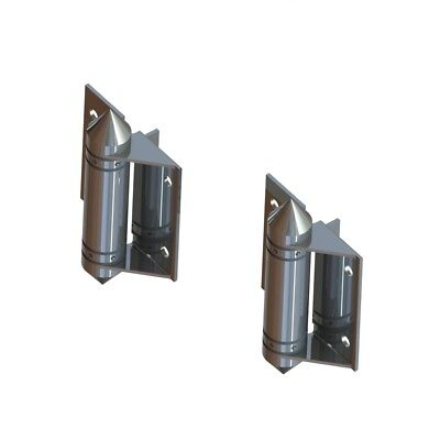 2 x 316L Stainless Steel Glass to Glass Hinges Frameless Glass Pool Fencing