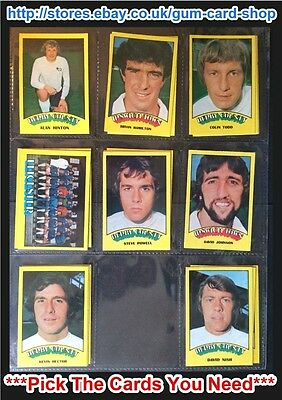 A&Bc 1974 Footballers Red Back (Very Good+ 1 To 45) *Pick The Cards You Need*