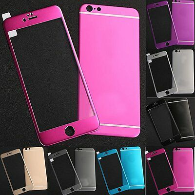 3D Titanium Metal Alloy Tempered Glass Full Screen Protector For iPhone 6s Plus