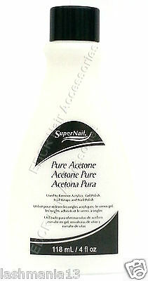 SuperNail Pure Acetone Used To Remove Acrylics,Gel Polish,Nail Polish & Wrap 4oz