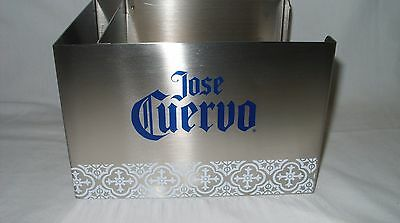 Jose Cuervo Tequila - Promo Stainless Steel Barware Napkin & Stirrer Caddy *new*