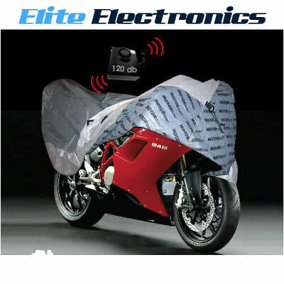 Motorader Dust Cover W/ Security Alarm Protection For Motorcycle Bike Medium