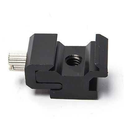 New Cold Shoe Hot Shoe To 1/4 Thread Screw Flash To Bracket Mount Adapter