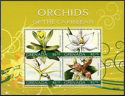 Grenada 2010 Orchids Of The Caribbean Flowers MNH Sheet #A89031