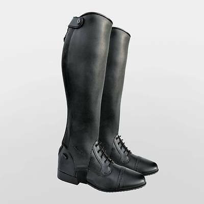 Dever Madrid Leather Half Chaps Everyday/Competition Gaiters Black & Brown