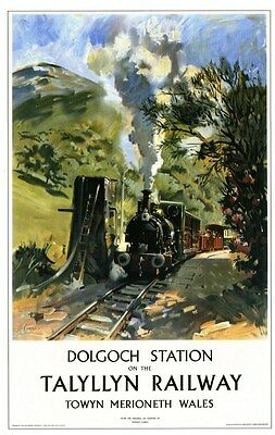 Dolgoch Station Railway Retro Vintage Old Picture Old School Poster A4 Print