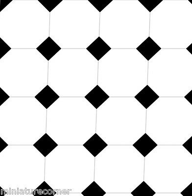 Dolls House Floor Panel Flooring Wallpaper Satin or Matte Card 1/12 - 1/24 #81