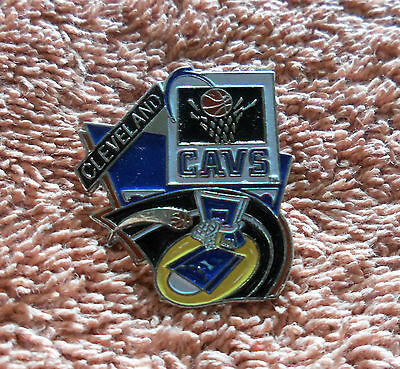 NBA Vintage Cleveland Cavaliers Enamel Basketball Pin Badge - New