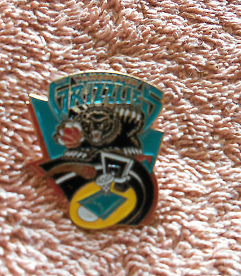 NBA Vintage Vancouver Grizzlies Enamel Basketball Pin Badge - New