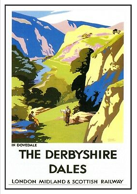 Staffordshire Potteries Railway Vintage Retro Oldschool Old Good Price Poster