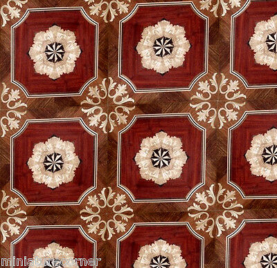 Dolls House Floor Panel Flooring Wallpaper Satin or Matte Card 1/12 - 1/24 #43