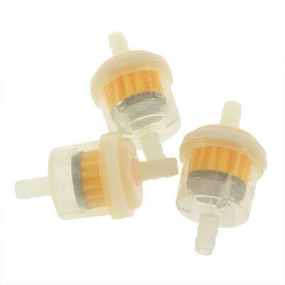 2X  Universal Motorcycle Engine Plastic Inline Mini Fuel Gas Filter