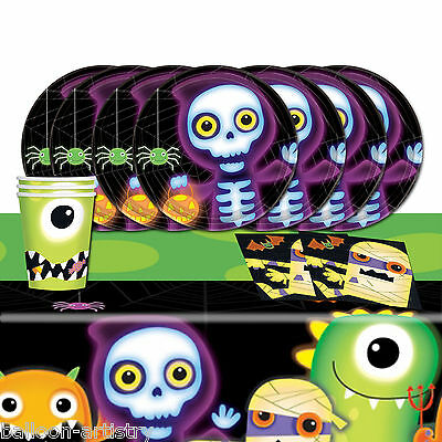 Boo Crew Monsters Halloween Children's Complete Birthday Party Table Pack For 16