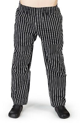 Chalk-stripe Classic Chef Pants Culinary Chef Attire FREE SHIPPING  8641CS
