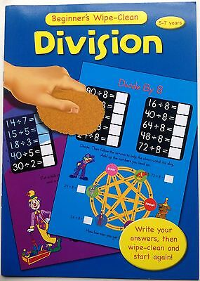 Beginners wipe clean Division  book for ages 5-7 years