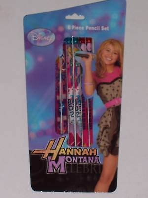 Hannah Montana Pack Of 6 Pencils