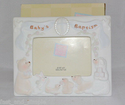 Russ Baby Gifts from Heaven Baby's Baptism Porcelain Picture Frame - 3.5 x 5
