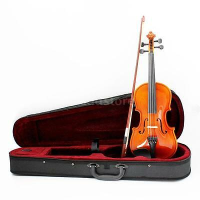 Size 1/8 Natural Violin Basswood Steel String Arbor Bow for Kids Beginners New