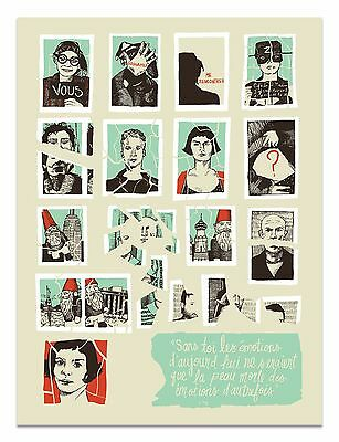 """""""Amelie"""" limited edition movie screen print by Jessica Deahl"""