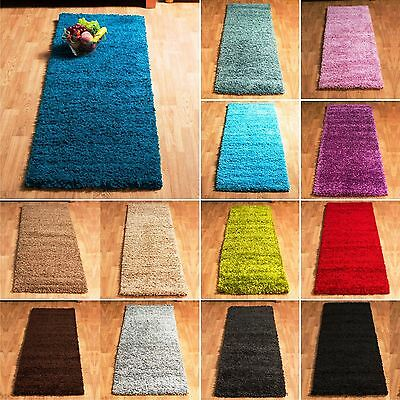 5cm Thick Soft Plain Modern Hallway Runners Shaggy Rug Small Size Clearance