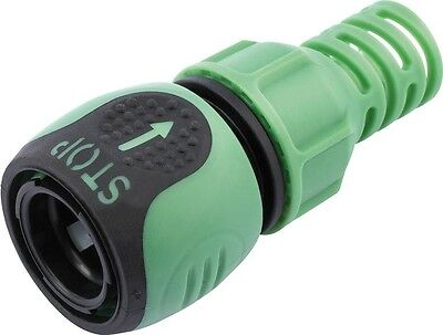 "Draper 65361 Flexible Soft Grip 1/2"" Hose Connector With Stop Button"