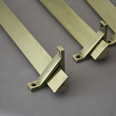 Large Antique Brass Stair Rods and Brackets