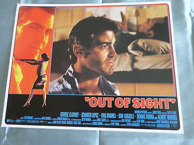 OUT OF SIGHT - GEORGE CLOONEY  - LOBBY CARD USA -11x14 - #2