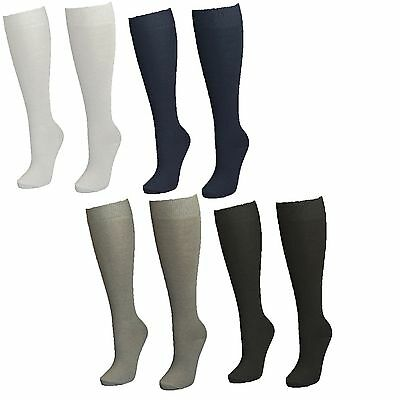 6 x Kid Girls Cotton Rich Knee High Long Length School Socks
