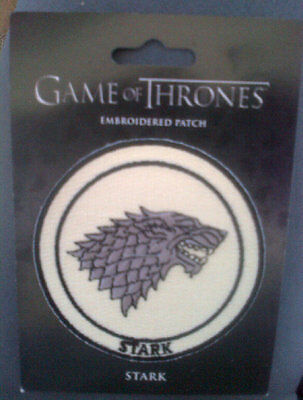 Game Of Thrones Embroidered Patch : Stark 2012