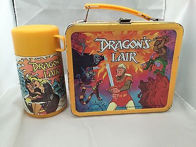 Vintage DRAGON'S LAIR Metal Lunchbox w/ Thermos, 1983 by Aladdin