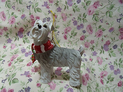 New Ganz Dog Schnauzer Scarf Resin Ornament