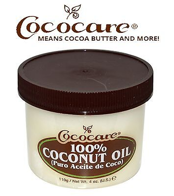 100% DEEP HAIR & SKIN CONDITIONER COCONUT OIL 4 OZ. All Natural. Made in USA